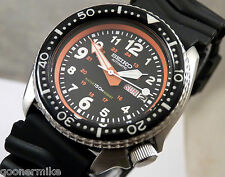 Seiko Ceramic Military Pilot 24 Hour Automatic Day/Date Divers Watch Custom 6309