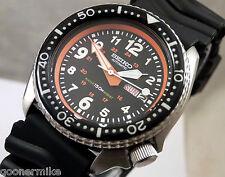 Seiko Ceramic Military Pilot 24 Hour Automatic Day/Date Divers Watch Custom 6309