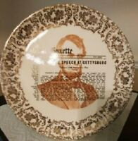 Abraham Lincoln Gettysburg Address Porcelain Collector Plate