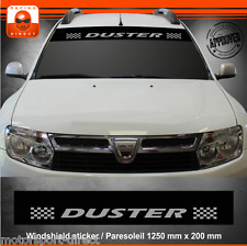 Sticker DACIA DUSTER tuning paresoleil aufkleber adesivi pegatina decal 407A