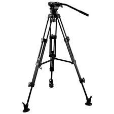 E-Image EG03AA Stage Aluminum Tripod w/ Fluid Head Load 5KG for DSLR Camera Film