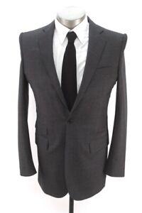 charcoal nailhead OLIVER WICKS blazer jacket sport suit coat italian fabric 38 R