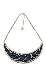 Swarovski Earth Necklace - White and Blue Crystals - Sea Waves - $299 5190040