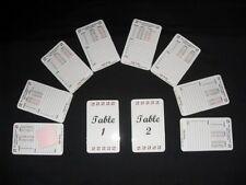 Two-Table Permanent / Reusable Bridge Tallies