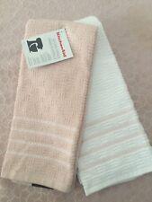 Super Cute Soft Pink  & White KitchenAid Kitchen Dish Towel 2 Pack  New