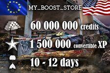 World Of Tanks(WOT) 60 MILL. 1.500.000 XP  12 days   NOT BONUS CODE