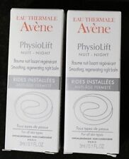 Lot of 2 Eau Thermale Avène Physiolift Night Smoothing, Regenerating Night Balm