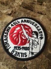 Boy Scout OA SILVER TOMAHAWK LODGE 80 Round 45th Ann Patch 136 80 67 WWW IA IL