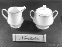 NORITAKE fine china MISTY  pattern ~ Creamer & Covered Sugar Bowl Set