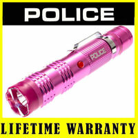 POLICE Stun Gun M12 78 BV Rechargeable With LED Flashlight Taser Case - Pink