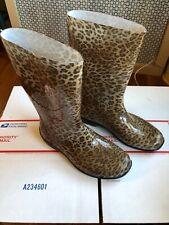 Rubber Rain Boots Leopard  Graphics Pattern Women's US 9