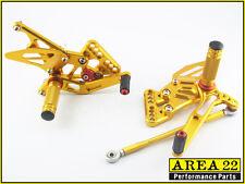 Suzuki GSX-R1000 2005 2006 Area 22 Adjustable Rear Sets Gold Rearsets GSXR1000