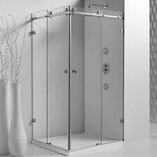 1000x1000x2000 Frameless Sliding Shower Screen Corner