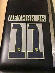 14/15 BARCELONA NEYMAR JR #11 AWAY/THIRD JERSEY AUTHENTIC NAMESET UNISPORT