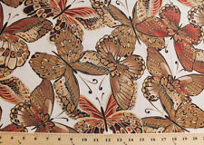Butterfly Butterflies Insects Metallic Shimmer Cotton Fabric Print BTY D774.13