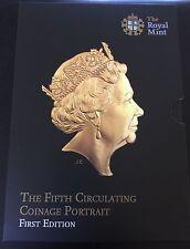 2015 Royal Mint Fifth Portrait First Edition BUNC 8 Coin Set Inc RARE £1 Coin