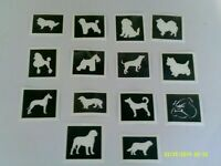 10 x dog stencils for etching on glass (mixed)