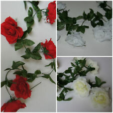 Fleurs artificielles et séchées de décoration intérieure guirlandes en tissu