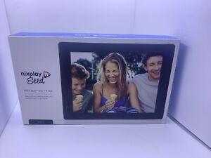Nixplay Seed 8 Inch WiFi Digital Photo Frame - Black Open Box Tested Working