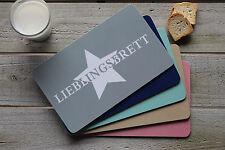 Frühstücksbrettchen Lieblingsbrett | Stern Star, Schneidebrett für Brotzeit NEU