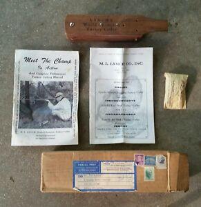 Lynch World Champion Turkey Caller Model No. 102 Three Hole + Manuals & Old Box