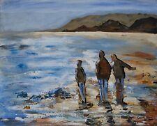 Sandy Beach - Original signed Irish Oil Painting by Artist CORINA HOGAN
