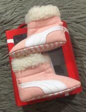 Puma Baby Boot Fur Pink Crib Shoes Sz 4 US 9-12 Months Coral Cloud