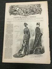 1879 LA MODA ELEGANTE Magazine From Madrid, Spain - Women's Fashion