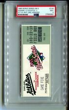 PSA Ticket Baseball 1988 World Series GM 5 Los Angeles Dodgers Oakland Clinch 9!