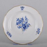 Meissen blaue Blumen & Insekten Kuchenteller / Teller, 16 cm, mehrere vorhanden