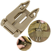 5 Pcs Molle Strap EDC Outdoor Backpack Bag Webbing Connecting Buckle Clip Pro US
