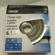 "Woods Clamp Light 8.5"" 0169 - Set of 4 - New Without Original Box"
