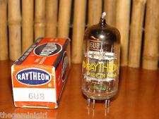 Vintage Raytheon 6U8 ECF82 D-Getter w/Foil Strip Radio Tube 5400/2600   µmhos
