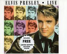 CDELVIS PRESLEYlive  + FREE POSTER EX+  (B3730)