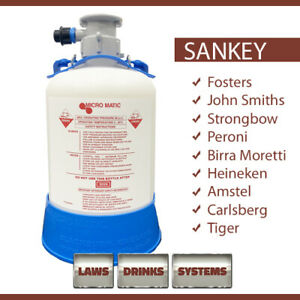 SANKEY (S TYPE) Beer Line Cleaning Bottle. NEXT WORKING DAY DELIVERY (UK)