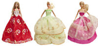 3 Handmade Wedding Dress Party Gown Clothes Outfits For Barbie Doll Random Gift