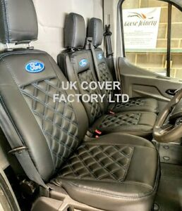 READY IN STOCK!!   VAN SEAT COVERS FOR FORD TRANSIT CUSTOM BLUE BENTLEY 4FORD