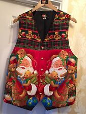 BESPOKE MENS WAISTCOAT-HANDMADE TO FIT YOU CHRISTMAS SANTA CHECK DELIVERY TIMES