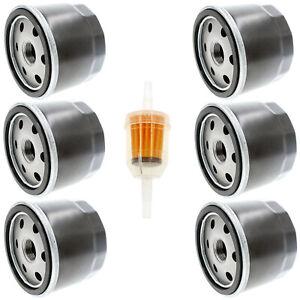6pc Oil Filter Kawasaki FB460V FC420V FC540V FD501D FD590V FR651V FX600V FX730V