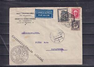 0279 Spain ( civil war) 1937 Consular letter to Ceskoslovenska good quality