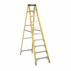 Sealey FSL10 Fibreglass Step Ladder 9-Tread EN 131