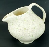 Vintage SPECKLED Sand Glaze TEXTURED Hand Crafted ROUGH Pottery Vase Pitcher