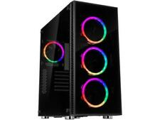 Rosewill ATX Mid Tower Gaming PC Computer Case with Dual Ring RGB LED Fans, 360m