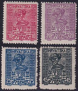 Croatia Hrvatska 1918 Stamps set Yvert 31/34 - Mint MH Hinged..............X3228