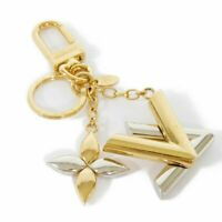 AUTHENTIC LOUIS VUITTON Bag charm twist M68197 key ring Monogram Flower LV...