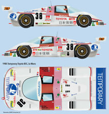 1985 Temporary Toyota 85C Water Transfer Decals 1/24 scale