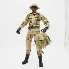 1/6 Scale Uniforms Coveralls Suit Dcsert camo+hat backpack B005 Action Figure
