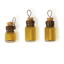 Steampunk Amber Poison Bottle Charms - Jewelry Finding