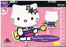 One Hello Kitty foil balloon Kitty with guitar, supershape helium  Retail packed