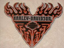 HARLEY DAVIDSON RARE B&S V FLAMES PATCH LG NEW